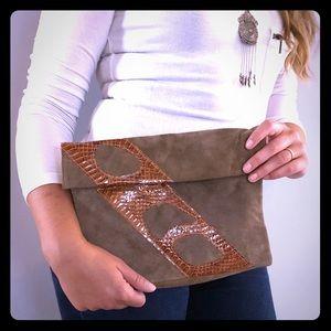 Handbags - Ruth Saltz Leather and Snake Skin Envelope Purse
